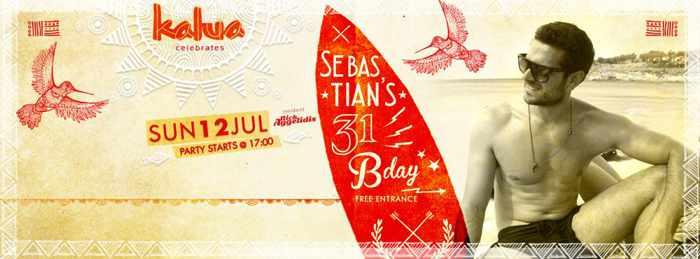 Sebastian's birthday bash at Kalua beach bar