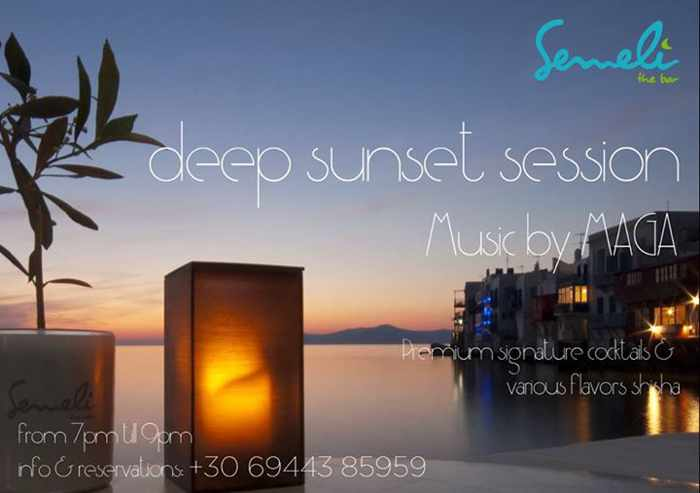 Semeli Bar Mykonos Sunset Sessions