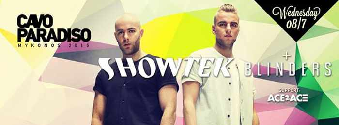 Showtek & Blinders at Cavo Paradiso Mykonos