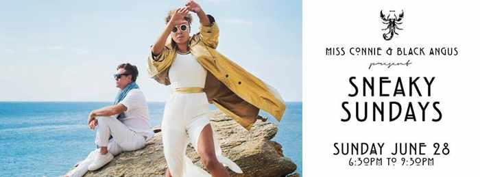 Sneaky Sundays event at Scorpios beach club Mykonos June 28 2015