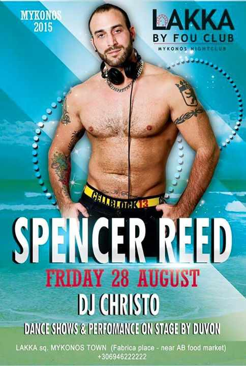 Spencer Reed at Lakka by Fou Club Mykonos