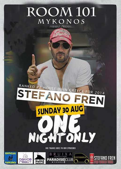 Stefano Fren at Room 101 Mykonos