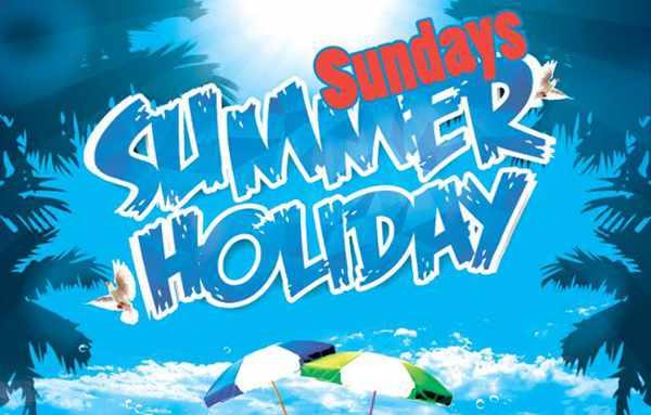 Summer Holiday Sundays party theme at Lakka by Fou Club Mykonos