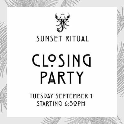 Sunset Ritual closing party at Scorpios September 1 2015