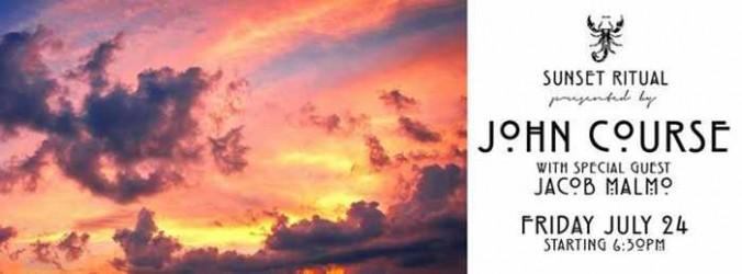 Sunset Ritual with John Course at Scorpios