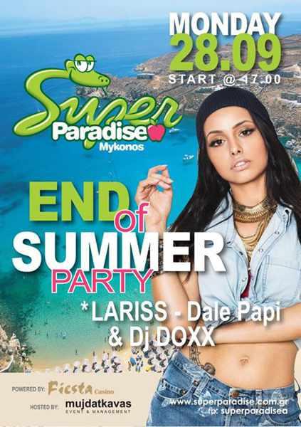 Super Paradise Mykonos end of summer party 2015