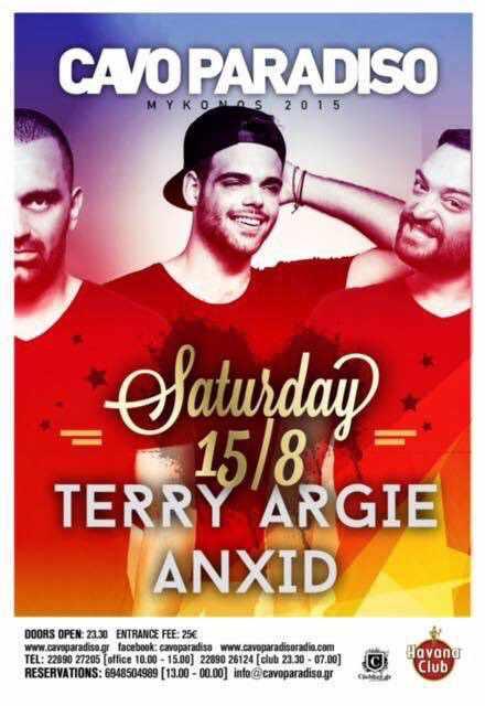 Terry Argie & AnXid at Cavo Paradiso Mykonos