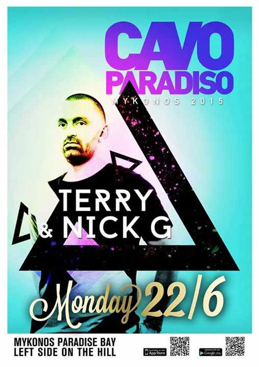 Terry & Nick G at Cavo Paradiso Mykonos June 22 2015