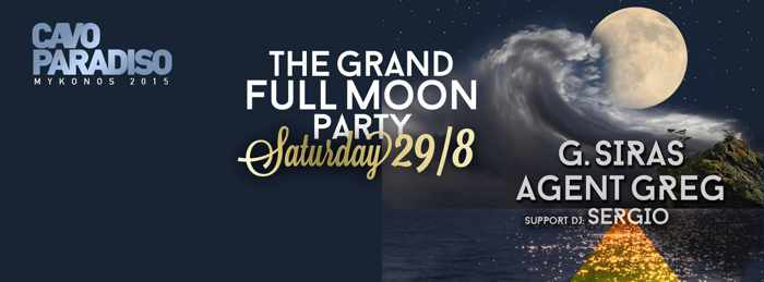 Full Moon Party at Cavo Paradiso Mykonos