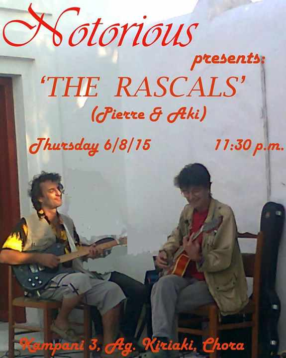 The Rascals live at Notorious Bar Mykonos