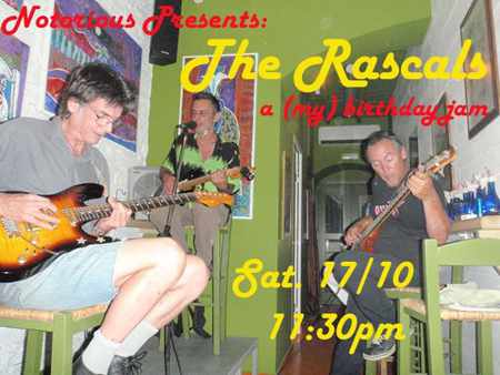 The Rascals live rock show at Notorious Bar Mykonos