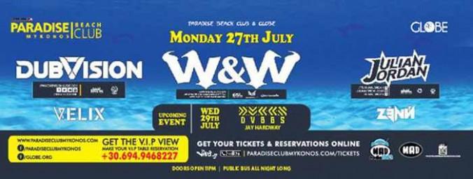 W&W at Paradise Beach Club