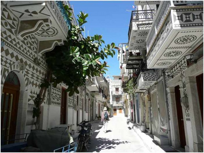 Pyrgi village on Chios