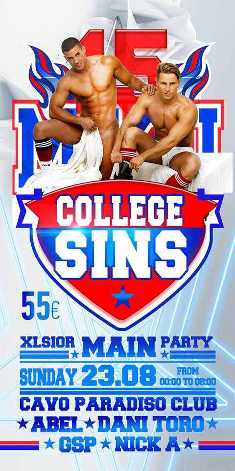 Xlsior Mykonos College Sins party at Cavo Paradiso