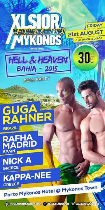 Xlsior Mykonos Festival Hell & Heaven Pool Part