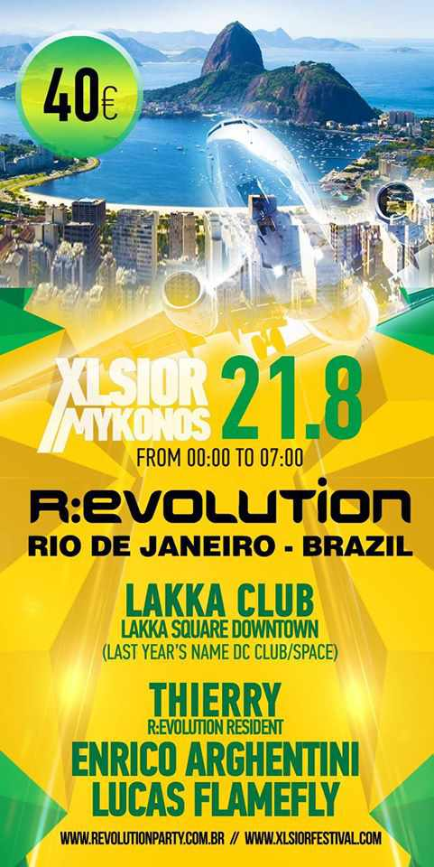 Xlsior Mykonos Festival Revolution Party