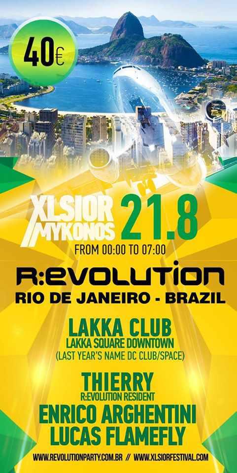 Xlsior Mykonos Festival Revolution Party