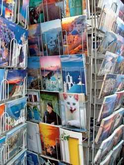 Santorini postcards