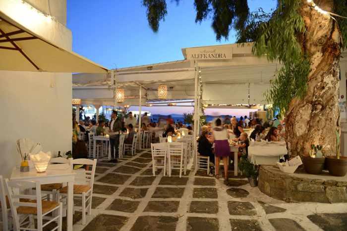 Alefkandra restaurant Mykonos photo from Facebook