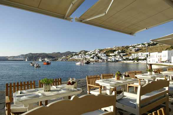 Alegro restaurant website photo of the view from its harbourside terrace
