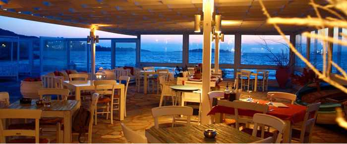 Alisahni restaurant at Mykonos Bay Hotel photo from the hotel website