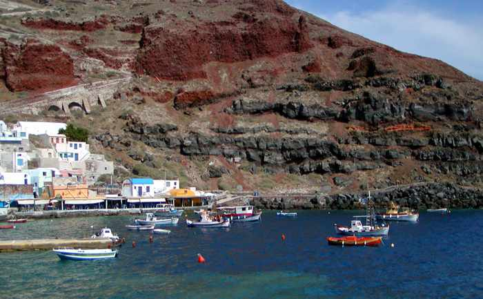 Amoudi Bay on Santorini
