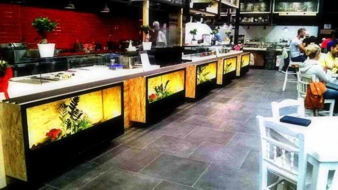 Asian Taste restaurant at the Food Mall Mykonos