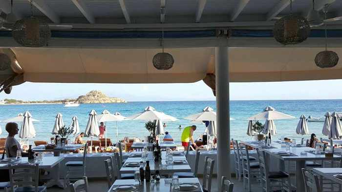 Atlantida Restaurant at Acrogiali Hotel Mykonos photo from the restaurant's Facebook page