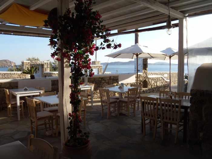 Bellissimo Pasta & Pizza restaurant terrace at Bellissimo Resort Mykonos