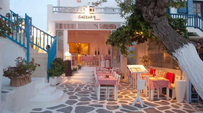Caesar's restaurant Mykonos