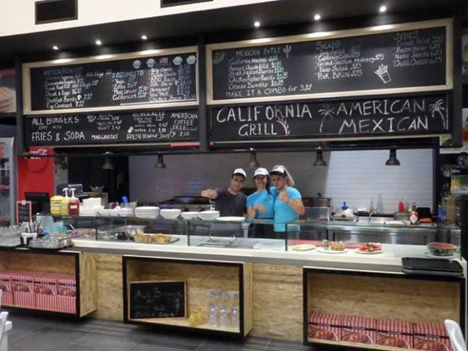 California Grill at Food Mall Mykonos photo from the mall's Facebook page