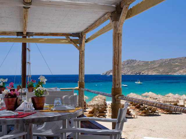 Capelayo Restaurant at Elia beach Mykonos photo by Christos Drazos