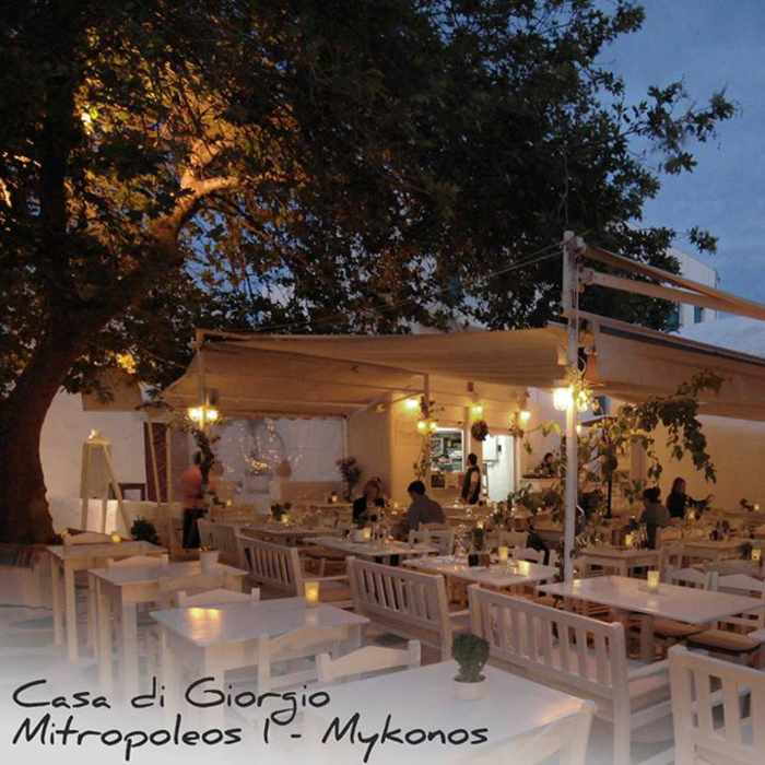 Casa di Giorgio restaurant Mykonos photo from its Facebook page