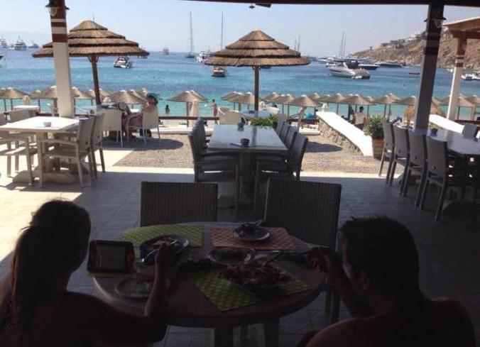 Cavo Psarou restaurant Mykonos photo by TripAdvisor member sharelife2