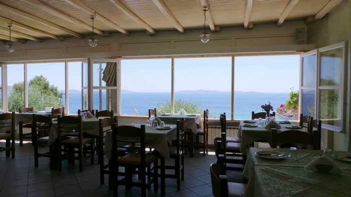 Facebook photo of the seaview dining room at Limnios Taverna on Mykonos