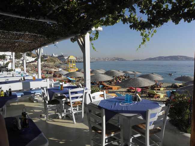 H Epistrophi taverna at Agios Sostis Mykonos photo from the restaurant website