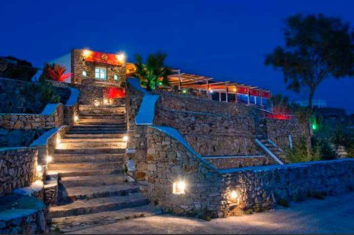 Indian Palace restaurant at Paradise beach Mykonos