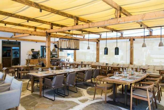 Inyama Mykonos restaurant dining area photo