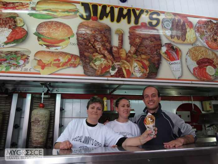 Jimmy's Souvlaki place in Mykonos Town