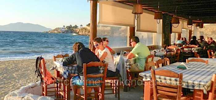 Joanna's Niko's Place taverna photo by PostCard ME Mykonos Greece