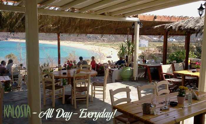 Kalosta restaurant Panormos beach Mykonos photo from Facebook