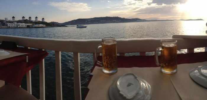 Katerina's Bar Mykonos balcony view seen in TripAdvisor review photo by Zohan R