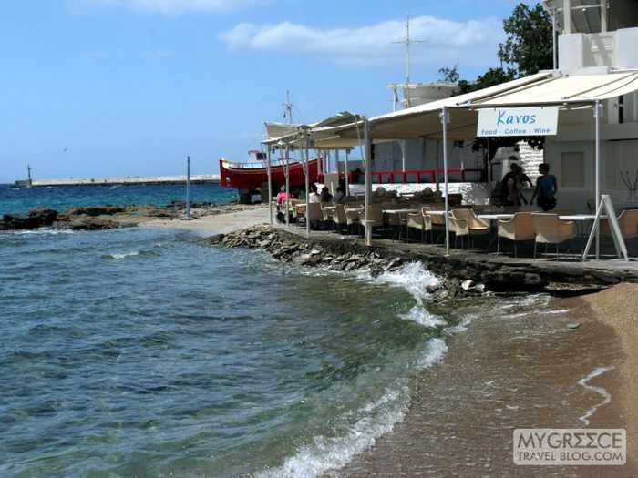 Kavos Cafe on the Mykonos Town harbourside