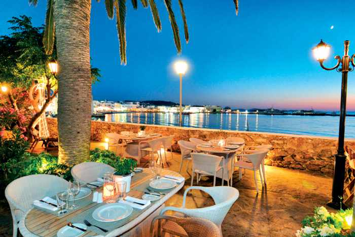 Natura restaurant at the Leto Hotel Mykonos photo from the hotel website