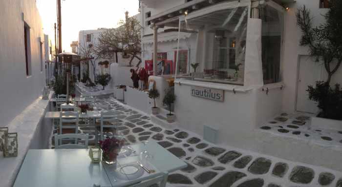 Nautilus Restaurant Mykonos photo from website