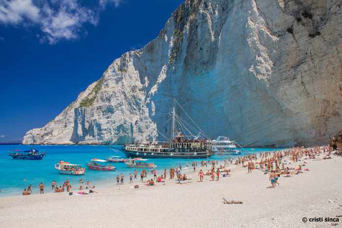 Shipwreck beach on Zakynthos island Greece