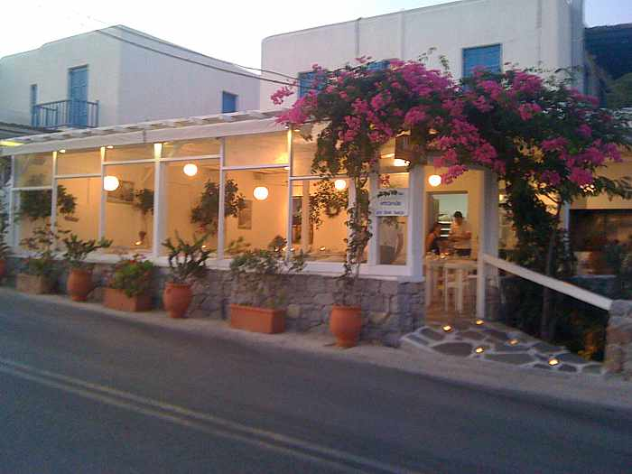 Nikos Gallop restaurant Platis Gialos Mykonos photo from its Facebook page