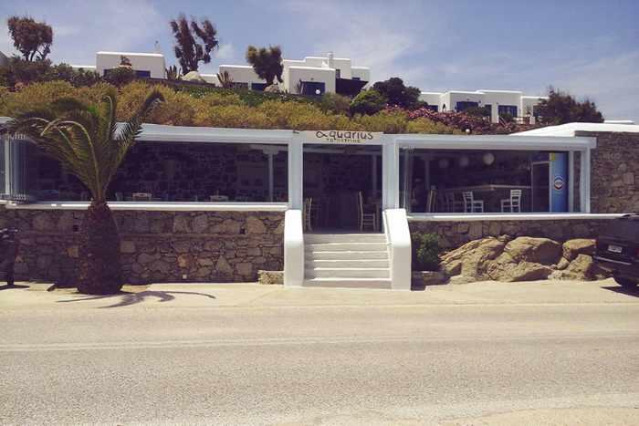Facebook photo of Petrino Aquarius restaurant at Kalafatis beach