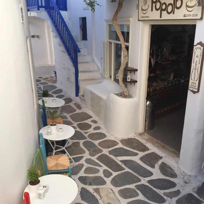 Popolo Mykonos cafe photo from Facebook