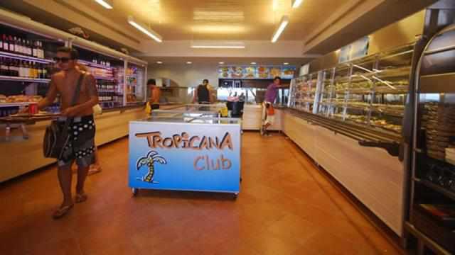 Self serve restaurant at Tropicana Club at Paradise beach Mykonos